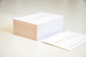 Visitenkarten Kern orange