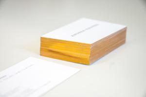Visitenkarten mit Goldschnitt