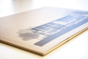 Broschüre geprägtes Naturpapier