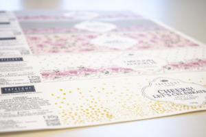 Etiketten Naturpapier mit Heißfolie