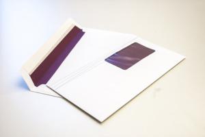 Briefcouvert mit Fenster Innenseite bedruckt