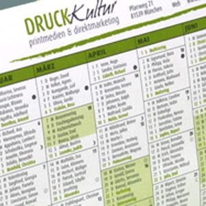 Der beliebte DRUCK-Kultur-Tischkalender